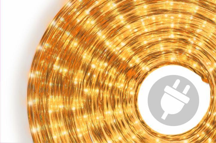 Svetelný kábel - 360 minižiaroviek, 10 m, žltý