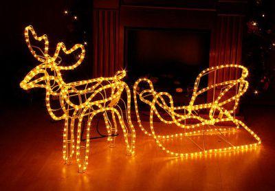 Svietiaci vianočný sob - svetelná dekorácia 140 cm