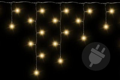 Vianočný svetelný dážď - 5 m, 144 LED, teple biely