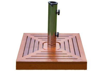 Stojan na slnečník - žula / nerezová oceľ / drevené obloženie, 40 kg