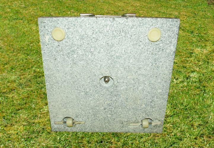 Stojan na slnečník - žula / nerezová oceľ, 50 kg