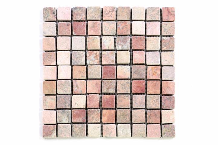 Mramorová mozaika Garth - červená - obklady 1 m2