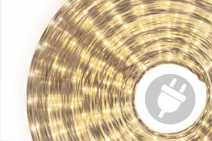Svetelný kábel - 360 minižiaroviek, 10 m, teple biely