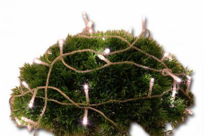 Vianočné LED osvetlenie 5 m s časovým spínačom - teplá biela, 50 diód