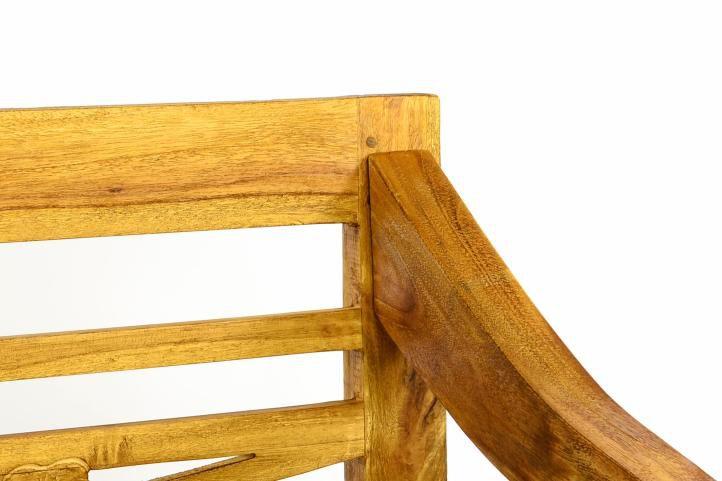 DIVERO drevená záhradná lavica pre 2 osoby v starožitnom designe