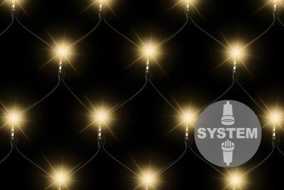 diLED svetelná sieť - 100 LED, teple biela