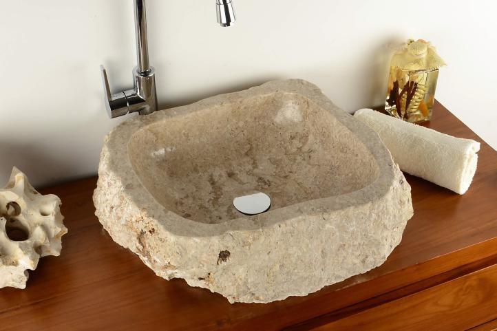 Divero 2210 Umyvadlo z přírodního kamene Tortona