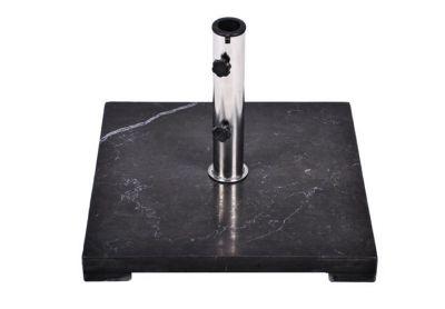 Stojan na slnečník Gardenay z čierneho mramoru a ušľachtilej ocele, štvorcový, 25 kg