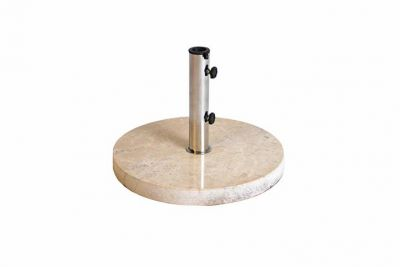 Stojan na slnečník z krémového mramoru a ušľachtilej ocele, okrúhly, 25 kg