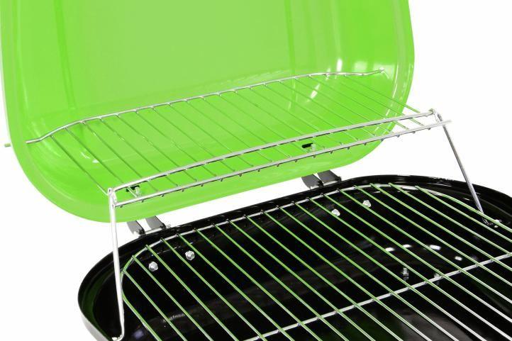 Kufríkový gril na drevené uhlie Garth, zelený