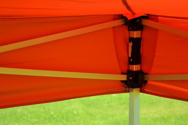 Záhradný párty stan terakota nožnicový 3 x 3 m + 4 bočnice