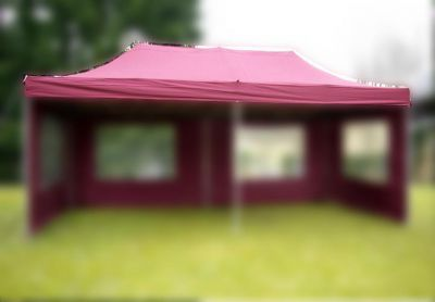 Náhradná strecha k párty stanu 3 x 6 m, vínovo červená