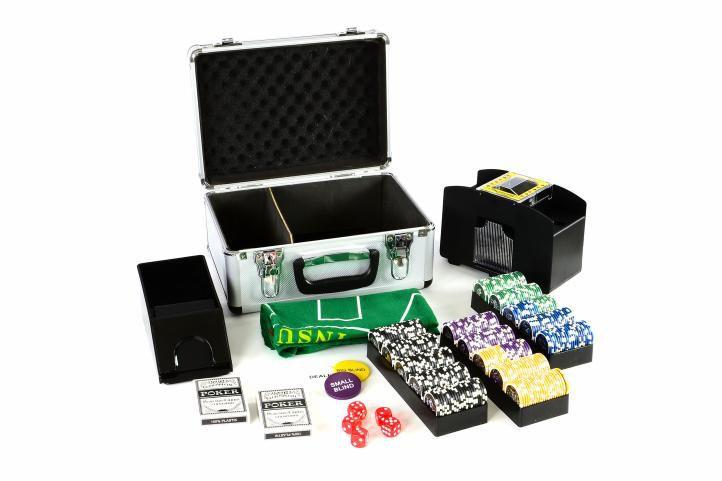Poker kufor DELUXE 300 laserových žetónov + príslušenstvo