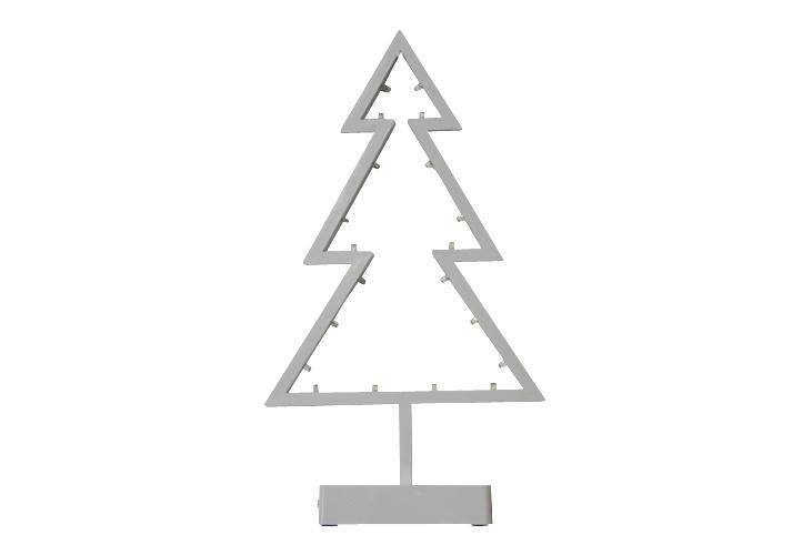 Vianočná dekorácia - stromček na stojančeku - 38 cm,  20 LED