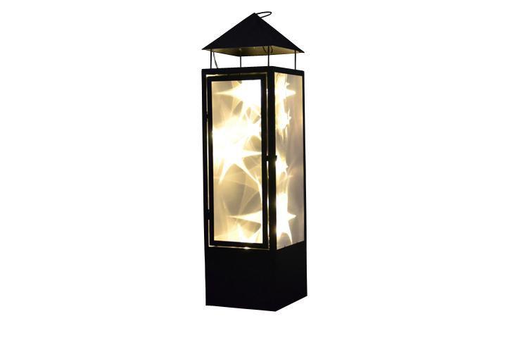 Nexos 28388 Vánoční dekorace - holografická 3D lucerna - 70 cm, 20 LED diod