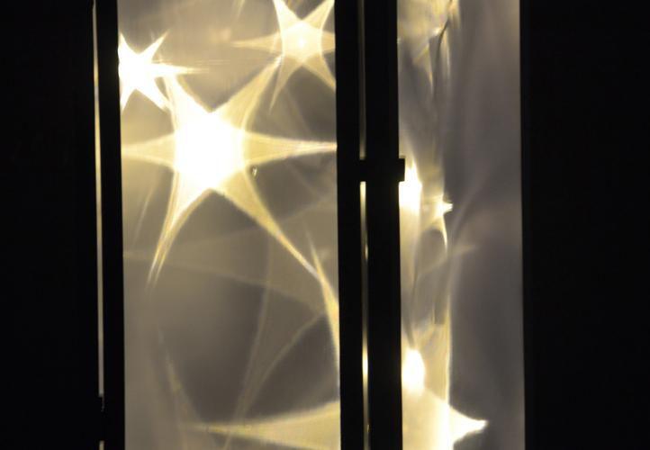Holografický 3D lampáš - 70 cm, 20 LED diód