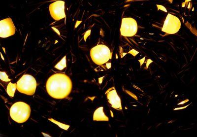 Vianočné LED osvetlenie 10 m - teplá biela, 100 MAXI LED diód