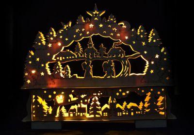 Vianočná dekorácia - vianočná krajina - 10 LED diód
