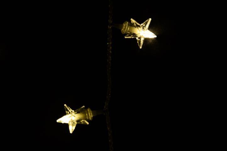 Vianočná dekorácia - svietiace hviezdy, 100 LED, teple biele