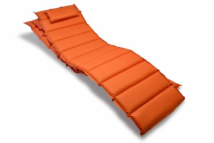 Sada 2 x polstrovania na ležadlo Garthen - oranžová
