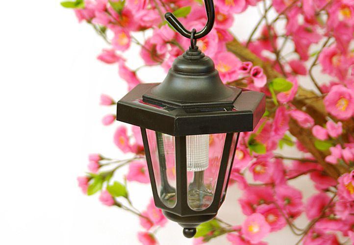 Záhradné solárne LED lampáš