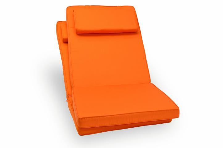 Sada 2 kusov polstrovania na stoličku Garth - oranžová