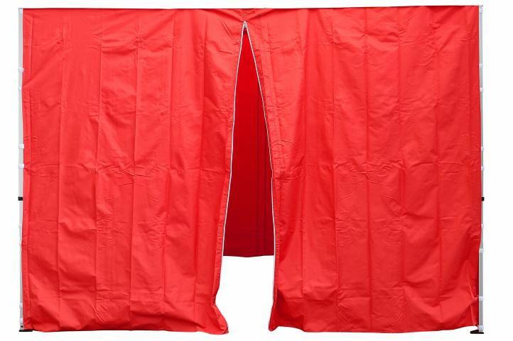 Sada 2 bočných stien pre PROFI záhradný stan 3 x 3 m červená