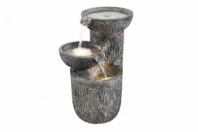Záhradná fontána - tri misky s osvetlením
