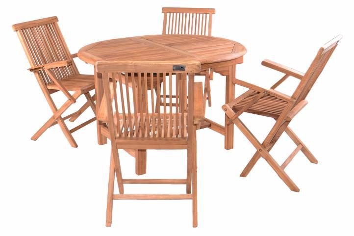 DIVERO záhradný nábytok z teakového dreva