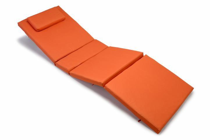 Divero 322 Polstrování na lehátko - oranžová