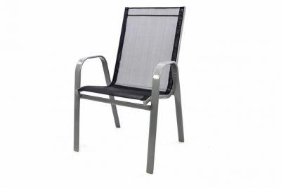 Záhradná stohovateľná stolička, antracit