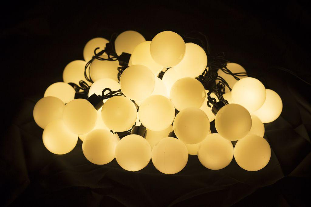Záhradné párty osvetlenie – vonkajšie, 40 LED, teplá biela