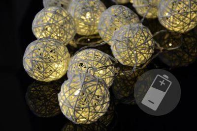 LED osvetlenie - ratanové gule, 20 LED