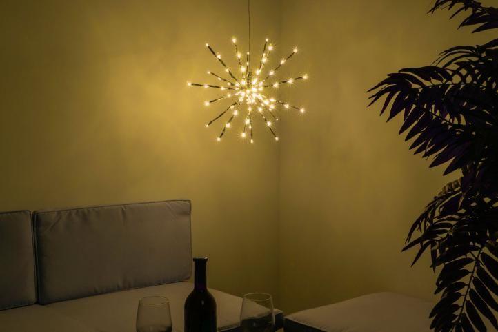 Vianočné osvetlenie - meteorický dážď, teple biely, 80 LED