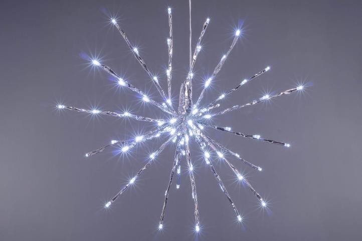 Vianočné osvetlenie - meteorický dážď, stud. biely, 120 LED
