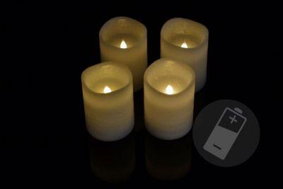 Dekoratívna LED sada - 4 adventné sviečky - biela