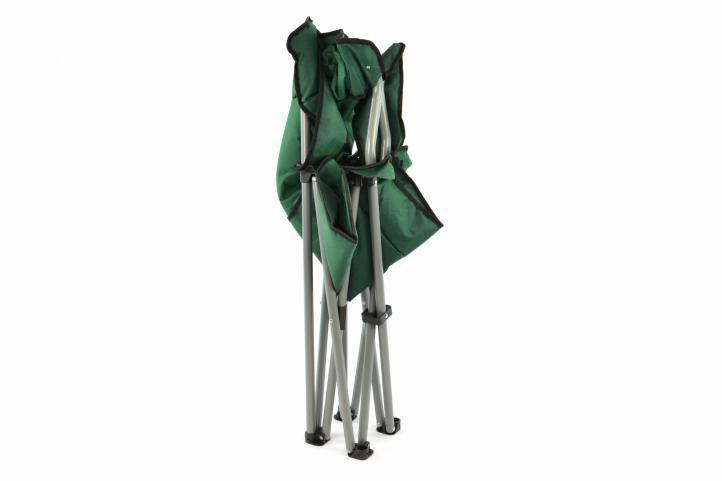 Skladacia kempingová stolička DIVERO XL – zelená