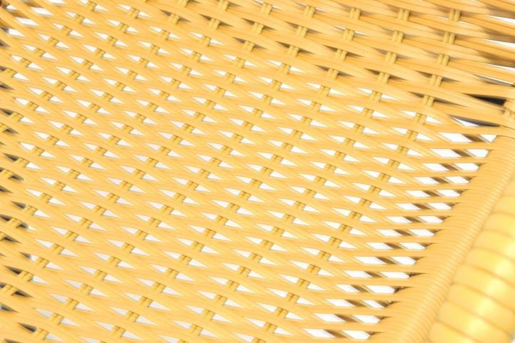 Sada 4 kusov záhradných stoličiek s polyratanovým výpletom – béžová