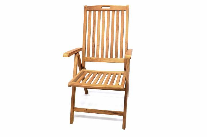 Skladacia stolička Garth z teakového dreva