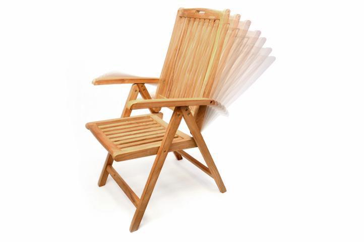 3357a1e8d6b1e Kvalitná skladacia stolička vyrobená z teakového dreva je ideálna na ...