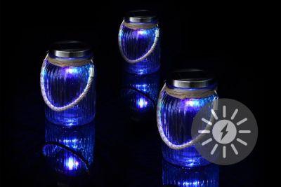 Sada 3 ks solárních lamp - 1 LED dioda měnící barvy
