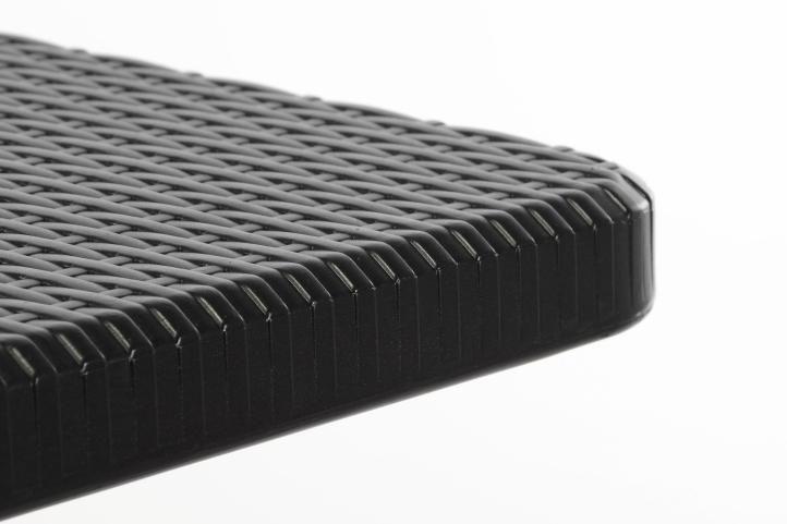 Skladací záhradný stôl - čierny 180 x 75 cm