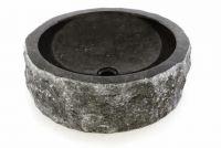DIVERO umývadlo z prírodného kameňa – čierny mramor
