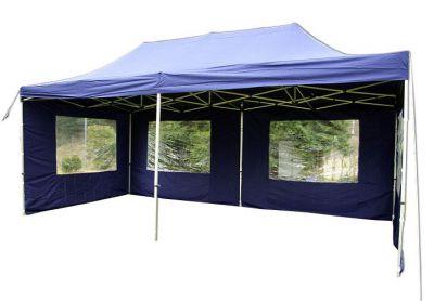 Záhradný párty stan 3x6 modrý, nožnicový