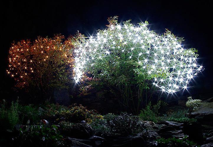 Vianočná svetelná sieť - 1,5x1,5 m, 100 diód, studeno biela