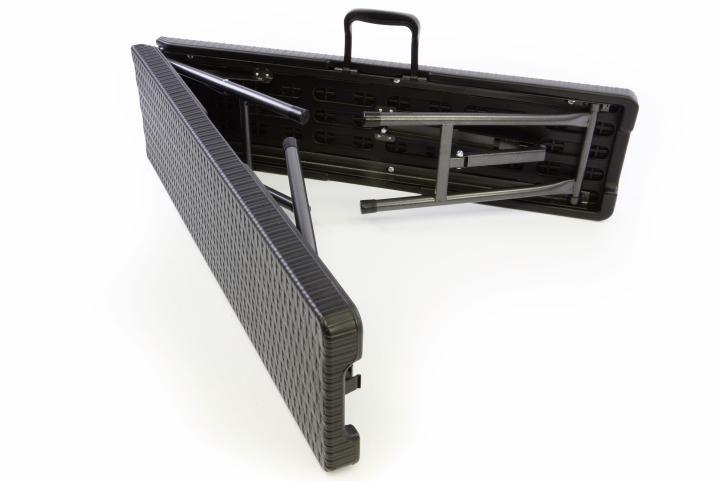Záhradný set lavica a stôl v ratanovej optike - čierna