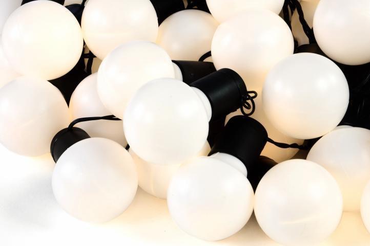 Záhradné párty osvetlenie vonkajšie, 50 LED, teplá biela