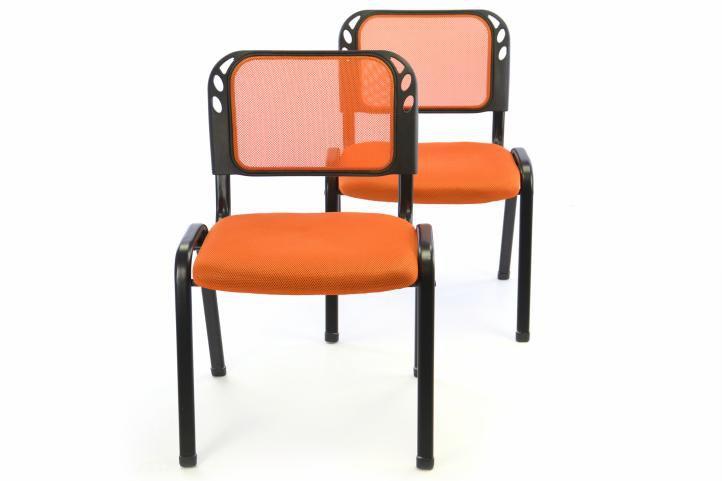 Sada 2 stohovateľných kongresových stoličiek - oranžová