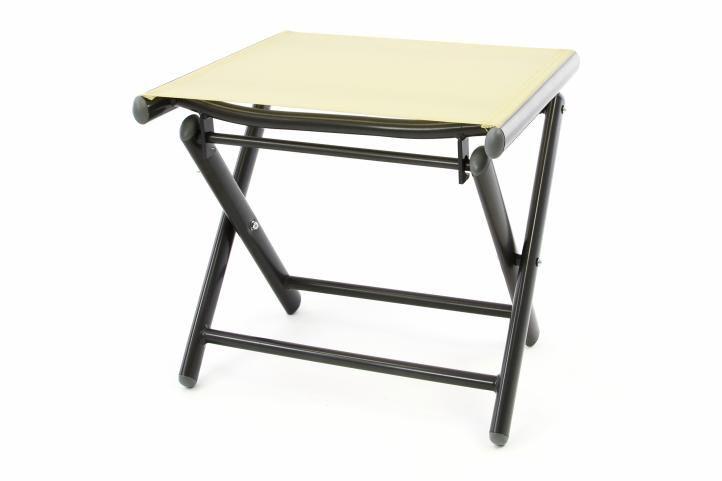 Hliníková záhradná stolička - skladacia krémová