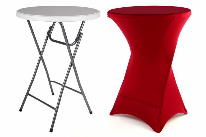 Párty stolík BISTRO skladací vrátane elastického poťahu 80 x 80 x 110 cm